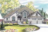 European House Plan - Edmonton 30-342 - Front Elevation