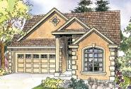 European House Plan - Sedona 30-568 - Front Elevation