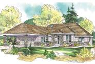 European House Plan - Stonechase 11-133 - Front Elevation
