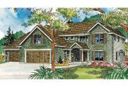European House Plan - Thomaston 30-668 - Front Elevation