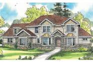 European House Plan - Westchase 30-624 - Front Elevation