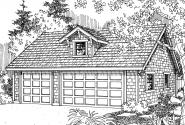 Garage Plan 20-017 - Front Elevation