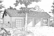 Garage Plan 20-032 - Front Elevation
