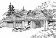 Garage Plan 20-033 - Front Elevation