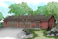 Garage Plan 20-037 - Front Elevation