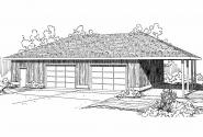 Garage Plan 20-066 - Front Elevation