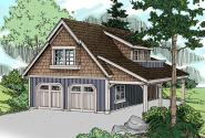 Garage Plan 20-080 - Front Elevation