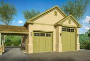 Country House Plans - RV Garage - Thumb