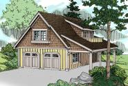 Garage Plan 20-099 - Front Elevation