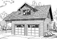 Garage Plan 20-111 - Front Elevation