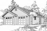 Garage Plan 20-123 - Front Elevation