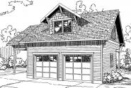 Garage Plan 20-137 - Front Elevation