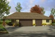 Garage Plan 20-149 - Front Elevation