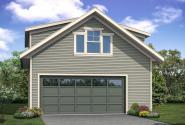 Garage Plan 20-221 - Front Elevation