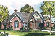Georgian House Plan - Ingraham 42-016 - Front Elevation