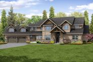 Lodge Style House Plan - Timberline 31-055 - Front Elevation
