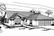 Mediterranean House Plan - Alessandro 11-077 - Front Elevation