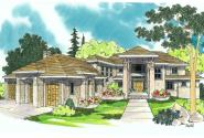 Mediterranean House Plan - Belle Vista 30-274 - Front Elevation