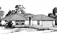Mediterranean House Plan - Camille 11-031 - Front Elevation