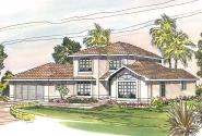 Mediterranean House Plan - Del Mar 11-057 - Front Elevation