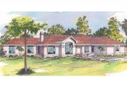 Mediterranean House Plan - Grenada 11-043 - Front Elevation