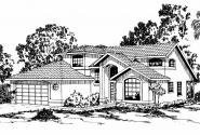 Mediterranean House Plan - Highland 11-047 - Front Elevation