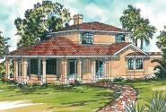 Mediterranean House Plan - Lauderdale 11-037 - Front Elevation