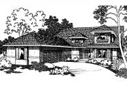 Mediterranean House Plan - Rosebery 30-162 - Front Elevation
