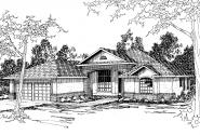 Mediterranean House Plan - St. Augustine 10-302 - Front Elevation