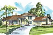 Mediterranean House Plan - St. Petersburg 11-071 - Front Elevation
