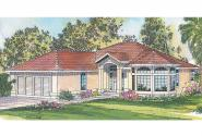 Mediterranean House Plan - Velarde 11-051 - Front Elevation