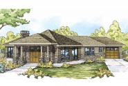 Prairie Style House Plan - Baltimore 10-554 - Front Elevation