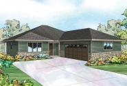 Prairie Style House Plan - Denver 30-952 - Front Elevation