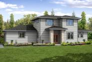 Prairie Style House Plan - Larkview 31-057 - Front Elevation
