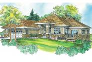 Prairie Style House Plan - Meadowbrook 30-659 - Front Elevation