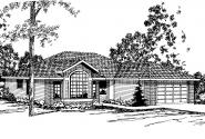 Ranch House Plan - Baldwin 30-019 - Front Elevation