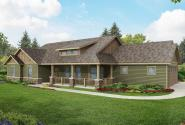 Ranch House Plan - Brightheart 10-610 - Front Elevation