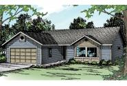 Ranch House Plan - Burnett 30-061 - Front Elevation