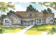 Ranch House Plan - Cameron 10-338 - Front Elevation