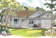 Ranch House Plan - Chapman 30-544 - Front Elevation