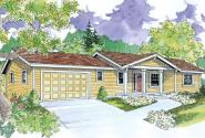 Ranch House Plan - Gatsby 30-664 - Front Elevation