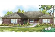 Ranch House Plan - Hills Creek 10-573 - Front Elevation