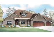 Ranch House Plan - Jamestown 30-827 - Front Elevation