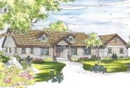 Ranch House Plan - Maxwell 30-458 - Front Elevation