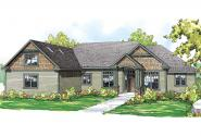 Ranch House Plan - Willamette 30-788 - Front Elevation