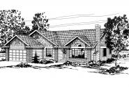 Shingle Style House Plan - Laramie 30-010 - Front Elevation