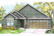 Shingle Style House Plan - Umpqua 30-825 - Front Elevation