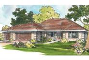 Southwest House Plan - Northrup 30-096 - Front Elevation