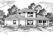 Southwest House Plan - Augusta 30-082 - Front Elevation
