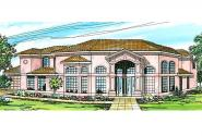 Southwest House Plan - Savannah 11-035 - Front Elevation